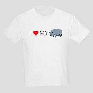 I Love My Pot Bellied Pig (1) Kids Light T-Shirt