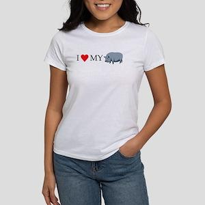 I Love My Pot Bellied Pig (1) Women's T-Shirt