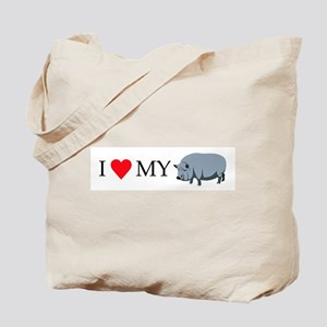 I Love My Pot Bellied Pig (1) Tote Bag