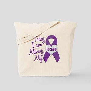 Missing My Husband 1 PURPLE Tote Bag