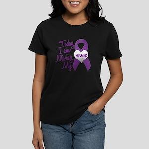 Missing My Husband 1 PURPLE Women's Dark T-Shirt