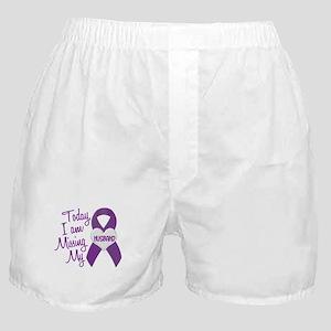 Missing My Husband 1 PURPLE Boxer Shorts