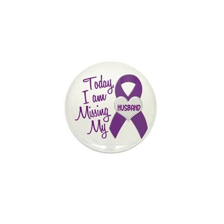 Missing My Husband 1 PURPLE Mini Button (10 pack)