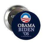 """""""Obama-Biden 2008"""" 2.25"""" Button"""