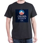 """Obama-Biden 2008"" Black T-Shirt"