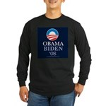 """Obama-Biden 2008"" Long Sleeve Black T"