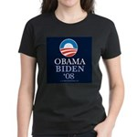 """Obama-Biden 2008"" Women's Black T-Shirt"