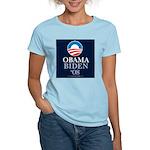 """Obama-Biden 2008"" Women's Pink T-Shirt"