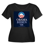 """Obama-Biden"" Women's Plus Scoop Dark"