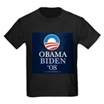 """Obama-Biden 2008"" Kids Black T-Shirt"