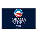 """Obama-Biden 08"" Sticker Rectangle (50)"
