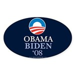 """Obama-Biden 2008"" Sticker Oval (10)"