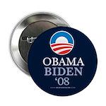 """""""Obama-Biden 08"""" 2.25"""" Button (100)"""