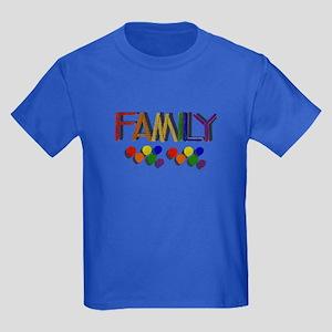 RAINBOW FAMILY/PRIDE Kids Dark T-Shirt