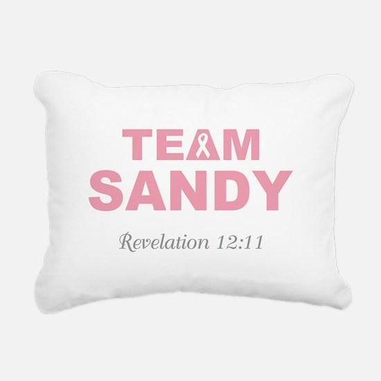 TEAM SANDY Rectangular Canvas Pillow