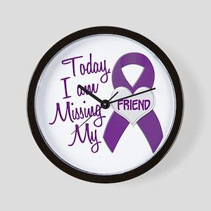 Missing My Friend 1 PURPLE Wall Clock