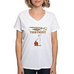 Trick Or Treatment Women's V-Neck T-Shirt