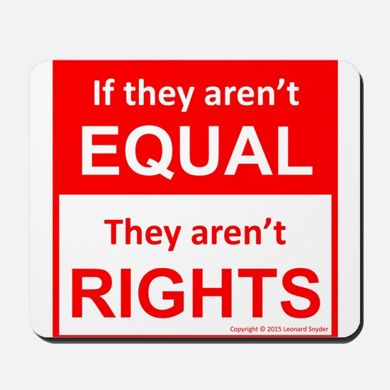 equal rights square v 2 Mousepad