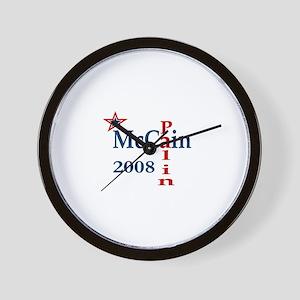 McCain Palin 2008 Wall Clock