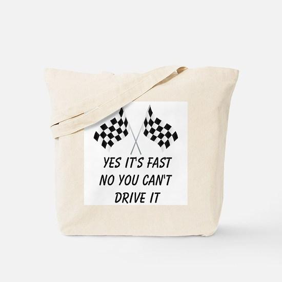 Race Car Driver Tote Bag