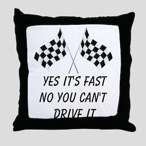 Race Car Driver Throw Pillow