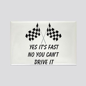 Race Car Driver Rectangle Magnet (10 pack)