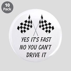 "Race Car Driver 3.5"" Button (10 pack)"