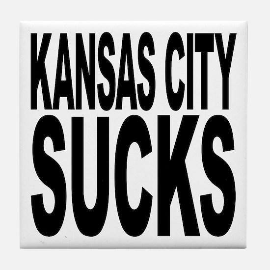 Kansas City Sucks Tile Coaster
