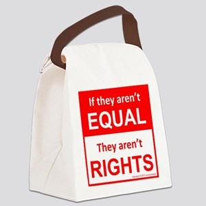 equal rights square v 2 Canvas Lunch Bag
