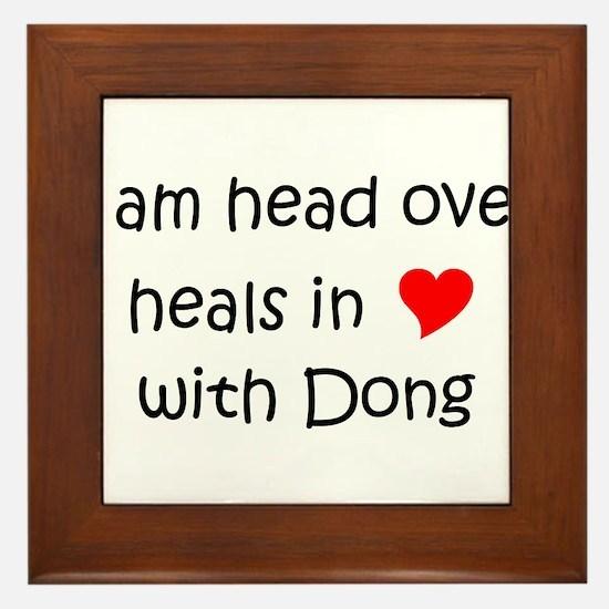Unique I heart ding dongs Framed Tile