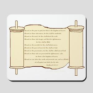 Matthew 5, Beatitudes Mousepad