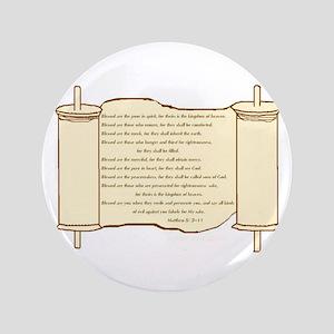 "Matthew 5, Beatitudes 3.5"" Button"