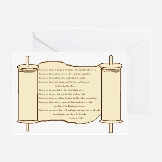 Matthew 5, Beatitudes Greeting Card