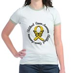 ChildhoodCancerButterfly Jr. Ringer T-Shirt