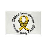 ChildhoodCancerButterfly Rectangle Magnet (10 pack