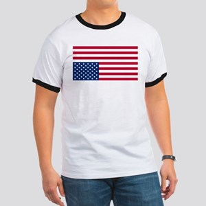 Inverted American Flag (Distress Signal) Ringer T
