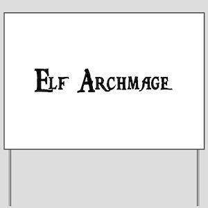 Elf Archmage Yard Sign
