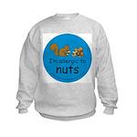 I'm allergic to nuts-squirrel Kids Sweatshirt