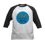 I'm allergic to nuts-squirrel Kids Baseball Jersey