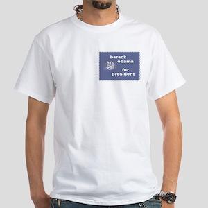 Alaskan Wolves for OBAMA White T-Shirt