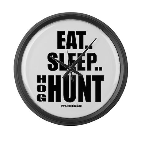 Eat, Sleep.. Hog Hunt Large Wall Clock