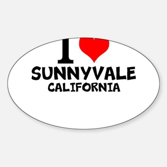 I Love Sunnyvale, California Decal