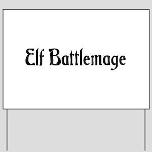 Elf Battlemage Yard Sign