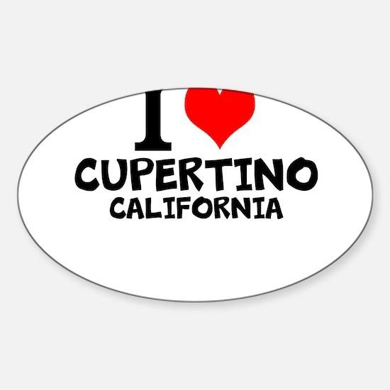I Love Cupertino, California Decal