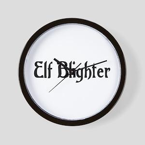 Elf Blighter Wall Clock