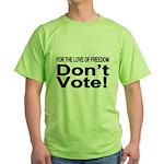 Non-Voter 2 Green T-Shirt