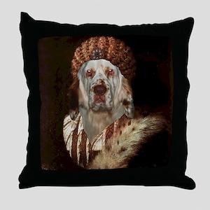 Clumber Spaniel TITIAN Throw Pillow