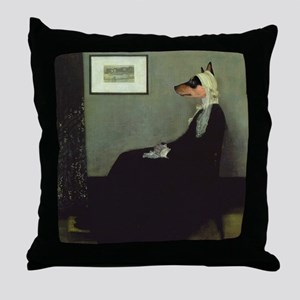 Basenji WHISTLER'S MOTHER Throw Pillow