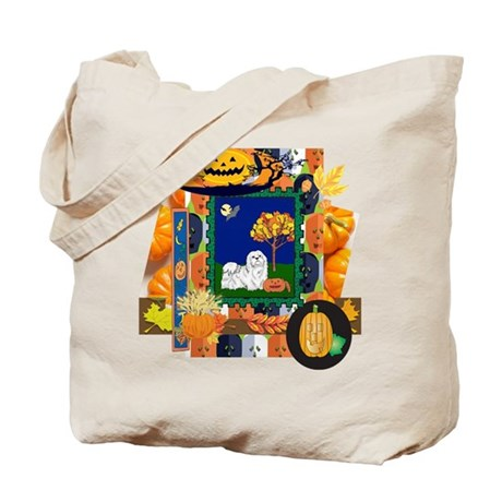 Scrapbook Maltese Halloween Tote Bag