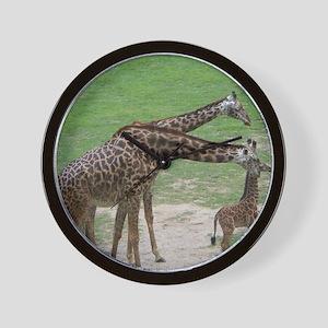 Giraffe Family Wall Clock